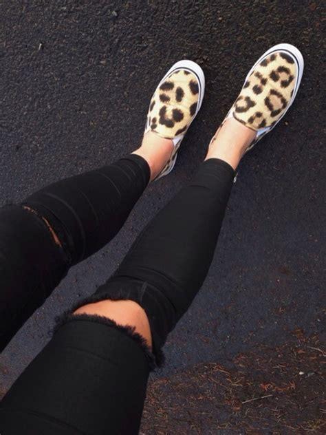 Destroyed Denim Slip On In Pink office kicker slip on leopard flats