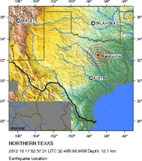 usgs earthquake map texas another earthquake strikes near dallas fort worth stateimpact texas
