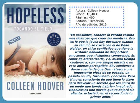 libro hopeless lo que aprend 237 en los libros abril 2014