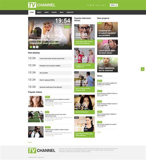 Tv Channel Responsive Joomla Template 51845 Tv Channel Website Templates Free