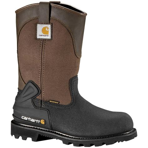 mens insulated waterproof boots s carhartt 174 11 quot waterproof insulated steel toe