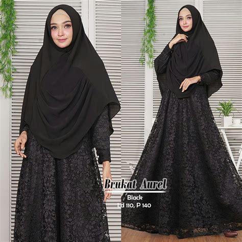 Gamis Aurel Syari gamis syari aurel brokat model baju muslim butik jingga