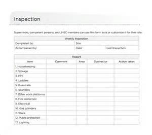 Motor Vehicle Inspection Checklist Template by Sle Weekly Checklist Template 10 Free Documents In
