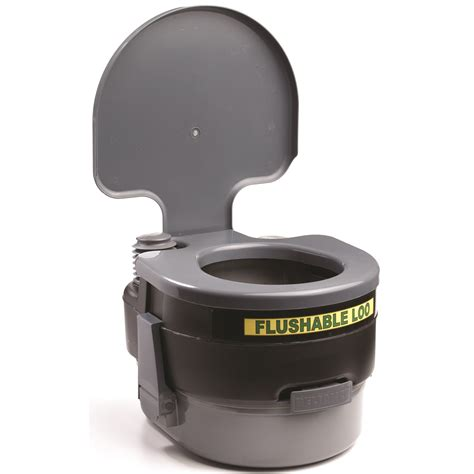 Toilet Temporer Toilet Portabel Toilet reliance luggable loo portable toilet in gray