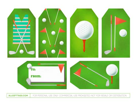 printable golf gift cards golf gift tags