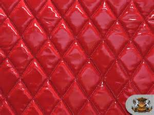 Upholstery Fabric Los Angeles Vinyl Quilted Foam Glossy Red Fabric W 3 8 Quot Foam Backing