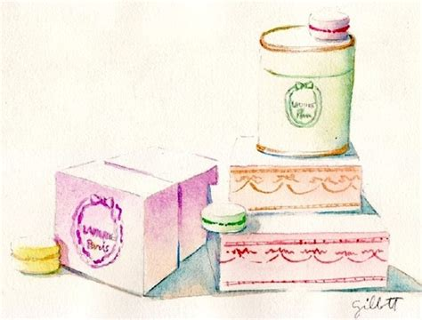 doodle yunita laduree macaron boxes illustrations