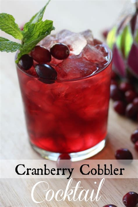 cranberry cobbler cocktail recipe catch my party