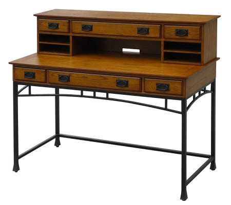 Home Styles Modern Craftsman Executive Desk And Hutch Modern Desk Hutch