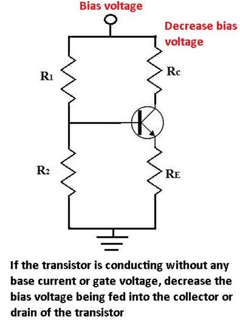 transistor gate bias voltage circuit troubleshooting a transistor turns on without any base current or gate voltage