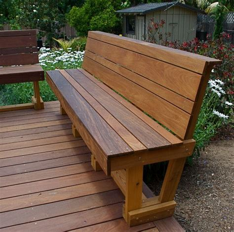 how to make a patio bench 25 best ideas about deck benches on pinterest deck