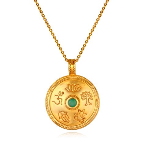 satya jewelry satya jewelry emerald mandala necklace at aha