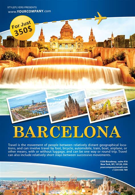 barcelona psd organize the most phenomenal tour with our free barcelona