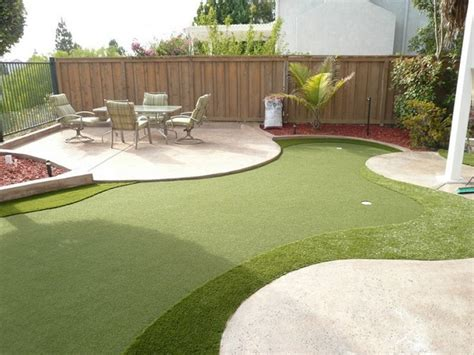 backyard golf course design outdoor entertaintment area outdoortheme com