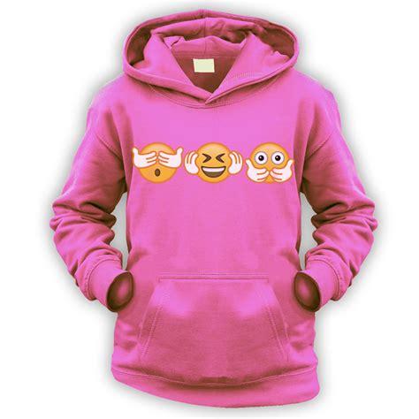 Hoodie Zipper Go Emoji 9 no evil emoji hoodie x9 colours gift meme idiom smiley emoticon ebay