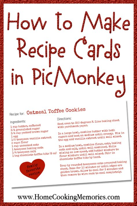 how to make your own recipe card template how to make recipe cards in picmonkey home cooking memories
