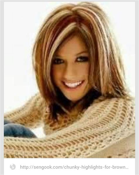 chunking or highlighting brown hairstyle chunky highlights for brown hair highlights lowlights