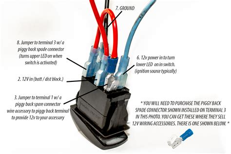 5 pin lighted rocker switch wiring diagram wiring