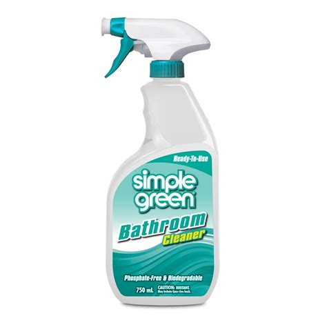 simple green bathroom cleaner simple green 750ml bathroom cleaner bunnings warehouse