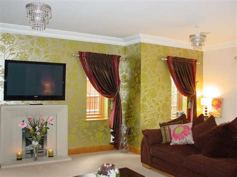 matching wallpaper curtains and cushions 12 best images about guest bed 1 on pinterest tassels