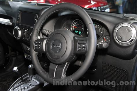 Jeep Wrangler Steering Wheel Jeep Wrangler Unlimited Steering Wheel At Auto Expo 2016