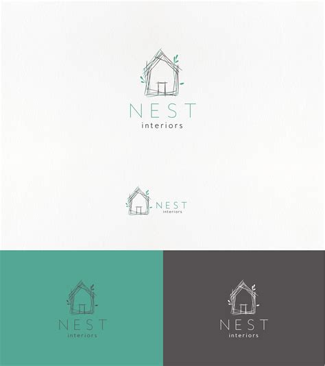 interior design company names handdrawn minimal logo for an interior design company