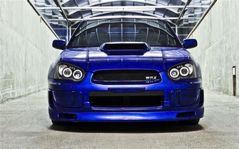 subaru blue subaru impreza wrx sti blue front car wallpaper