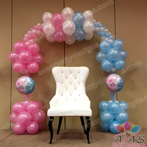 Baby Shower Balloon Designs by Gender Reveal Balloon Arch Baby Shower