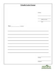 Template For A Friendly Letter by Friendly Letter Format How To Write A Friendly Letter