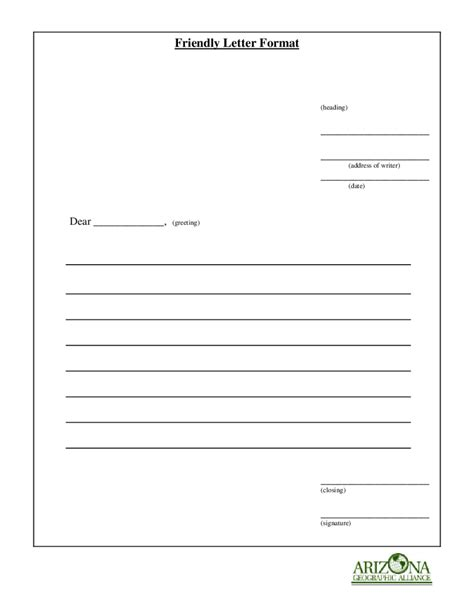 printable friendly letter format edit fill sign
