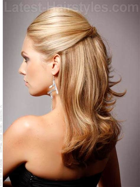 partial updos  long hair hair style  color  woman