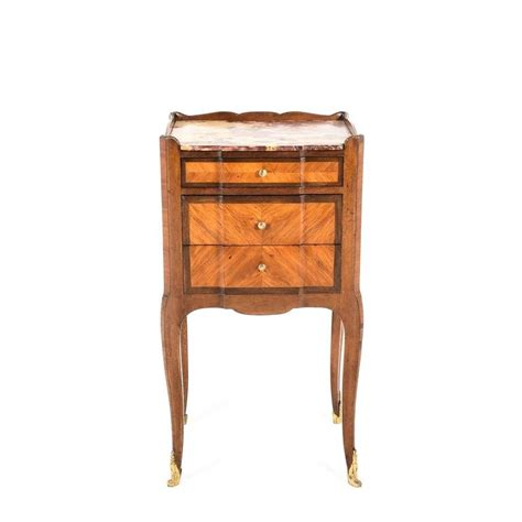 best nightstand antique inlaid kingwood marble top nightstand circa 1900