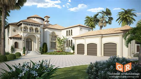 3d home builder 3d exterior residential rendering for home builders