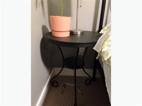 Used Furniture Kitchener Waterloo 2 Ikea Noresund Metal Side Tables In Black West Shore