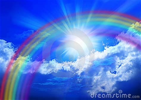rainbow sky royalty  stock images image