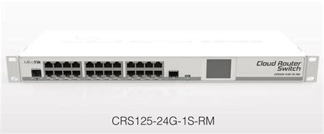 Switch Mikrotik 24 Port mikrotik cloud router switch crs125 24g 1s rm complete 1 sfp port plus 24 port 10 100 1000 layer