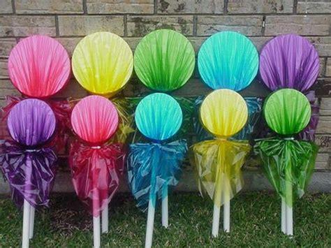 diy lollipop decorations candyland craft ideas