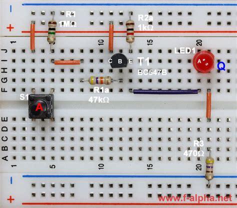 transistor q button f alpha net experiment 1 id logic rtl