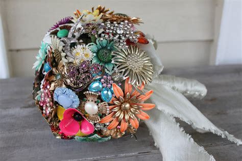 Wedding Bouquet Vintage Brooches by Parsonage Events How To Make A Vintage Brooch Bouquet