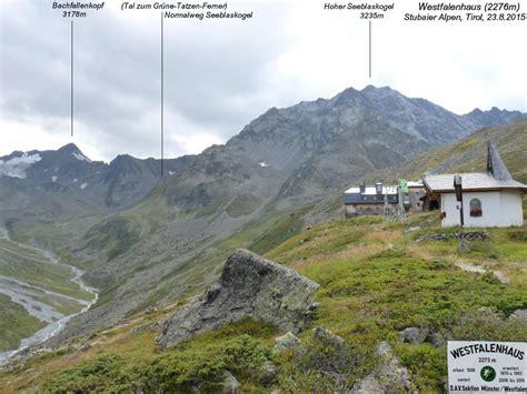 westfalen haus hoher seeblaskogel 3235m westfalenhaus 2276m stubaier