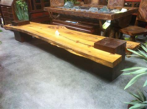 images  slab wood benches  pinterest