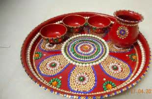 19 unique karwa chauth pooja thali designs available