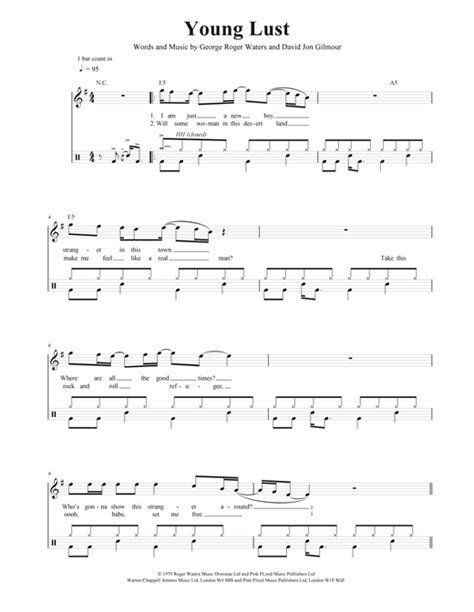 comfortably numb drum tab partition batterie comfortably numb