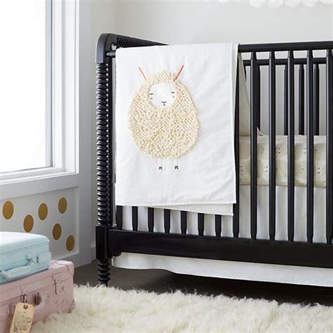 lamb nursery bedding sheepish white sheep print baby bedding