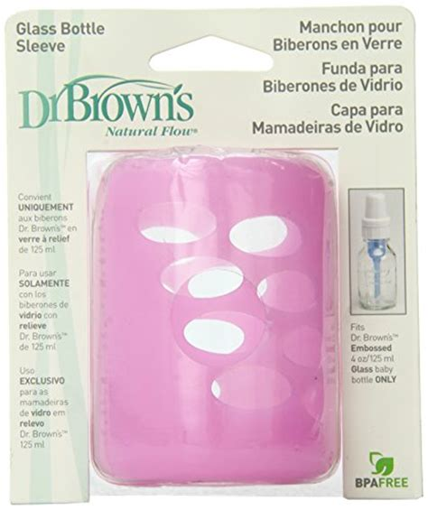Dr Browns Protective Bottle Sleeves 1pcs 4oz dr browns silicone protective bottle sleeve 4oz size pink sleeve only the glass baby bottle