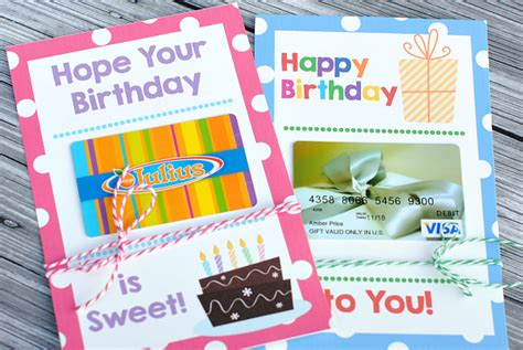 I Have A Gift Card For A Restaurant That Closed - printable birthday gift card holders crazy little projects