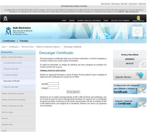 gu 237 a de instalaci descargar certificado certificado electr 243 nico de