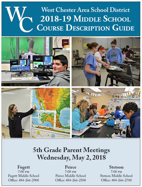 Middle School Description by Course Selection Welcome To The 2017 18 Course Selection Page