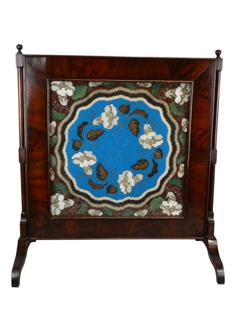 decorative beading for furniture antique beaded embroidered mahogany screen