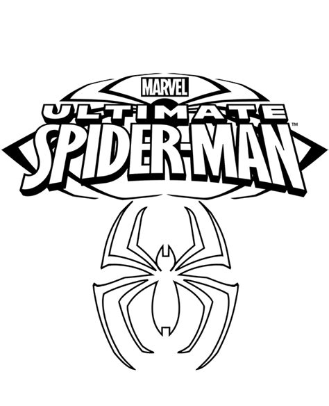 spiderman symbol coloring page spider man symbol pages coloring pages